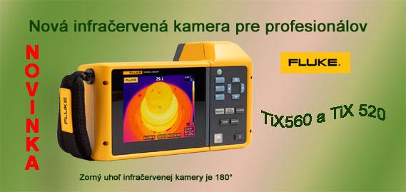 FLUKE výkonná termovízna kamera  pre profesionálov – TiX560 a TiX520